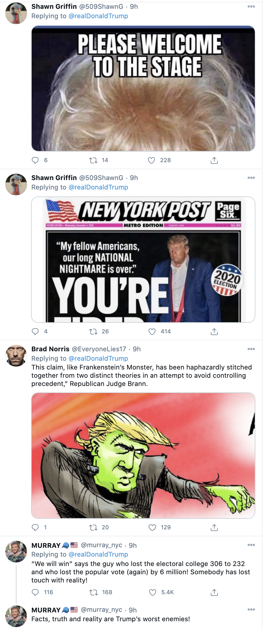 Screen-Shot-2020-11-23-at-8.37.36-AM Trump Tweets Delusional Voter Fraud Nonsense Like A Scared Old Man Crime Donald Trump Featured Politics Top Stories