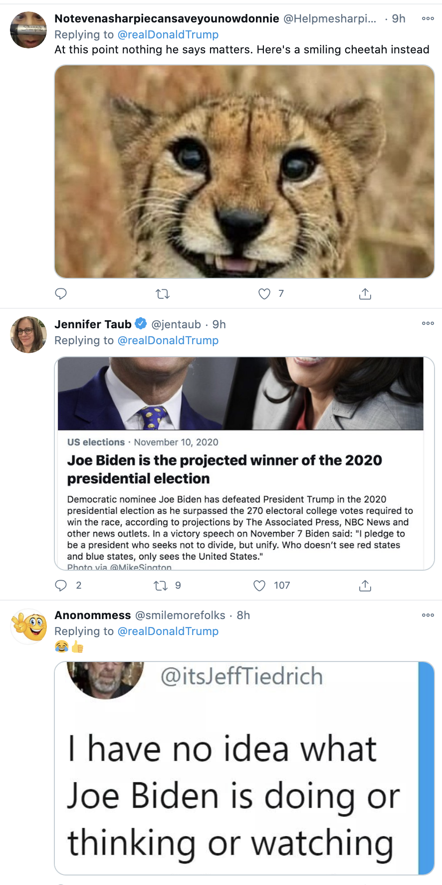 Screen-Shot-2020-11-23-at-8.37.49-AM Trump Tweets Delusional Voter Fraud Nonsense Like A Scared Old Man Crime Donald Trump Featured Politics Top Stories