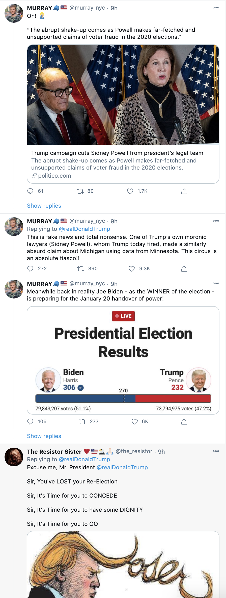 Screen-Shot-2020-11-23-at-8.38.39-AM Trump Tweets Delusional Voter Fraud Nonsense Like A Scared Old Man Crime Donald Trump Featured Politics Top Stories
