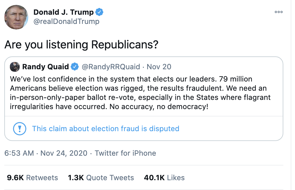 Screen-Shot-2020-11-24-at-7.21.22-AM Trump Demands Election Redo During Pre-Dawn Emotional Breakdown Donald Trump Featured National Security Politics Top Stories