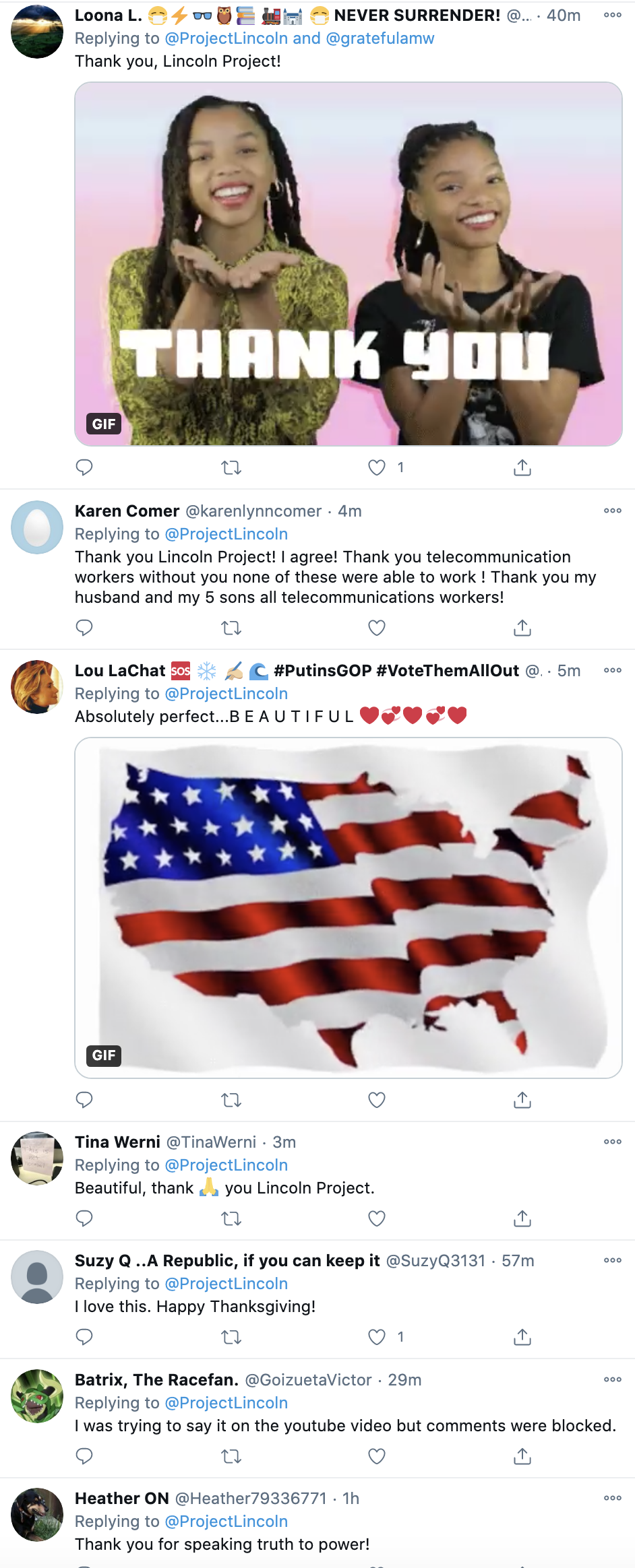 Screen-Shot-2020-11-25-at-7.31.55-PM 'The Lincoln Project' Releases Heart Warming Thanksgiving Message Coronavirus Featured Humanitarian Politics Top Stories