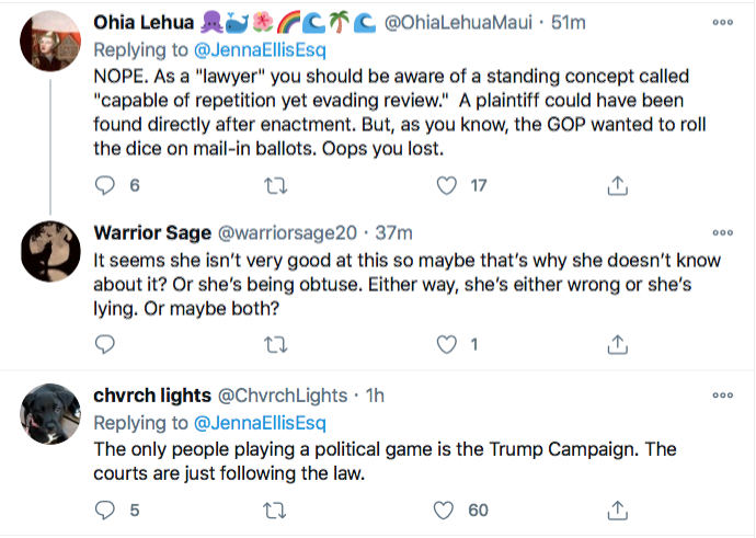 Screen-Shot-2020-11-28-at-9.05.36-PM Jenna Ellis Has Crazed Hissy-Fit After Seeing PA Supreme Court Ruling Conspiracy Theory Donald Trump Election 2020 Featured Politics Top Stories