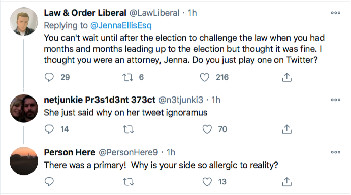 Screen-Shot-2020-11-28-at-9.06.12-PM Jenna Ellis Has Crazed Hissy-Fit After Seeing PA Supreme Court Ruling Conspiracy Theory Donald Trump Election 2020 Featured Politics Top Stories