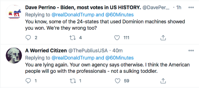Screen-Shot-2020-11-29-at-9.43.47-PM Trump Has Sunday Night Conniption Fit After Watching '60 Minutes' Conspiracy Theory Donald Trump Election 2020 Featured Politics Top Stories Twitter