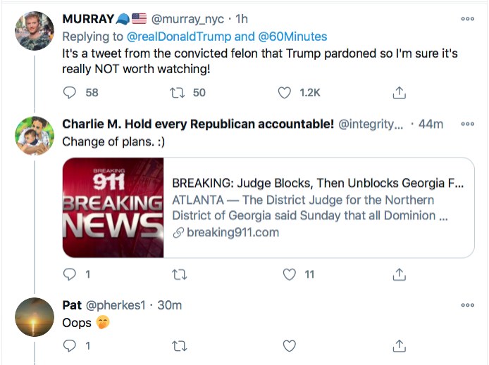 Screen-Shot-2020-11-29-at-9.45.10-PM Trump Has Sunday Night Conniption Fit After Watching '60 Minutes' Conspiracy Theory Donald Trump Election 2020 Featured Politics Top Stories Twitter