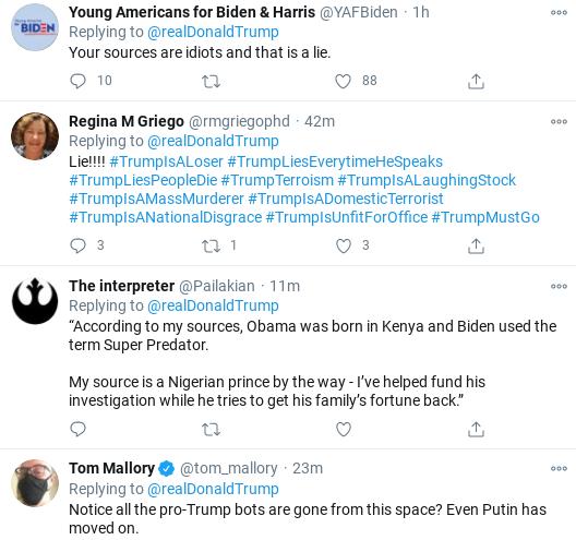 Screenshot-2020-11-01-at-11.50.05-AM Trump Flies Into Mid-Morning Anti-Biden Tirade As Campaign Collapses Donald Trump Election 2020 Politics Social Media Top Stories