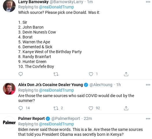 Screenshot-2020-11-01-at-11.50.42-AM Trump Flies Into Mid-Morning Anti-Biden Tirade As Campaign Collapses Donald Trump Election 2020 Politics Social Media Top Stories