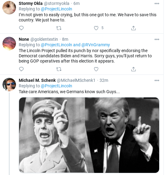 Screenshot-2020-11-02-at-11.28.42-AM 'The Lincoln Project' Hits Trump With Pre-Election Day Stunner Donald Trump Election 2020 Politics Social Media Top Stories