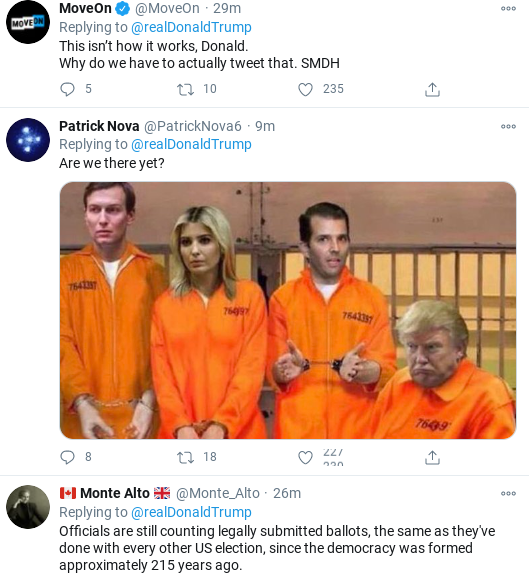 Screenshot-2020-11-04-at-5.59.22-PM Trump Sees Updated Afternoon Totals & Melts Down Like A Scared Lunatic Corruption Donald Trump Election 2020 Politics Social Media Top Stories