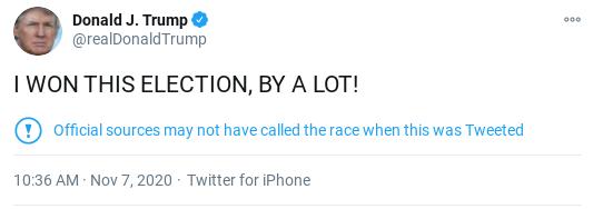 Screenshot-2020-11-07-at-12.04.28-PM Trump Tweets Childish ALL CAPS  Refusal To Concede Presidency Donald Trump Politics Social Media Top Stories