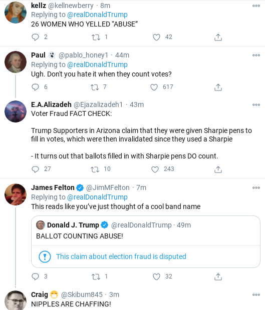 Screenshot-2020-11-10-at-11.23.04-AM Trump Rages Over 'BALLOT ABUSE' During Mid-Morning Public Meltdown Donald Trump Election 2020 Politics Social Media Top Stories
