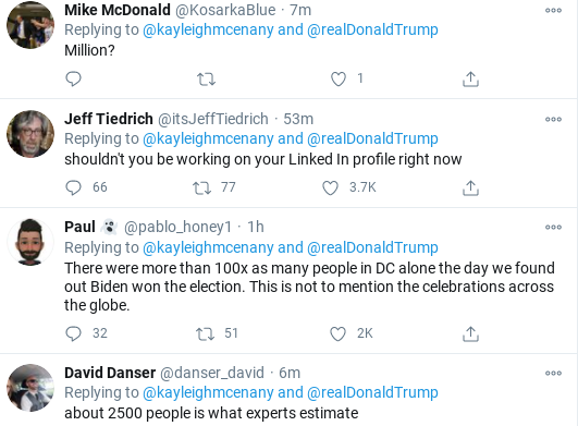 Screenshot-2020-11-14-at-1.06.48-PM Kayleigh McEnany Caught Lying About Crowd Size Of Saturday Trump Rally Donald Trump Election 2020 Politics Social Media Top Stories