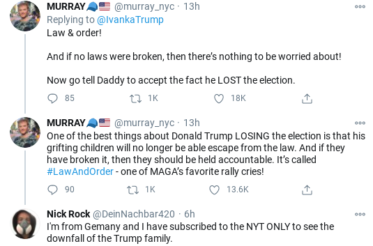 Screenshot-2020-11-20-at-11.04.54-AM Ivanka Has Unhinged Meltdown After Seeing Tax Evasion Scandal Corruption Donald Trump Election 2020 Politics Social Media Top Stories