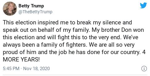 Screenshot-2020-11-20-at-3.03.58-PM Trump Caught Responding To Account Pretending To Be His Sister Donald Trump Politics Social Media Top Stories