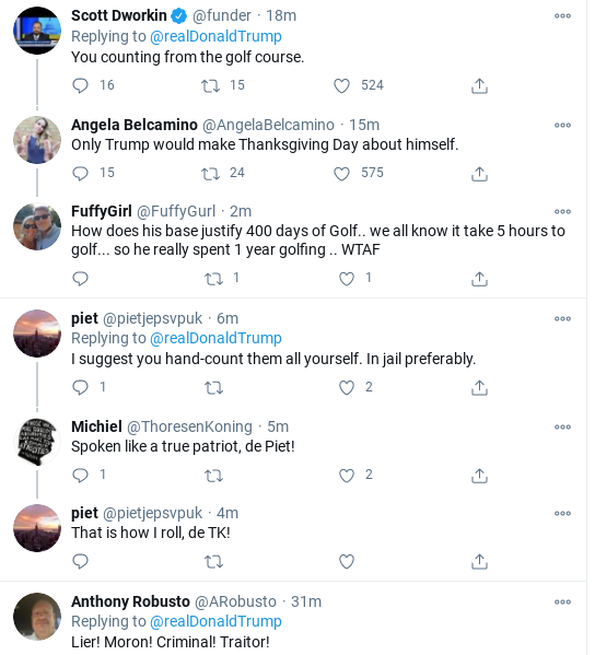 Screenshot-2020-11-26-at-11.16.16-AM Trump Rage-Tweets Thanksgiving Message Of Hate To America Donald Trump Election 2020 Politics Social Media Top Stories