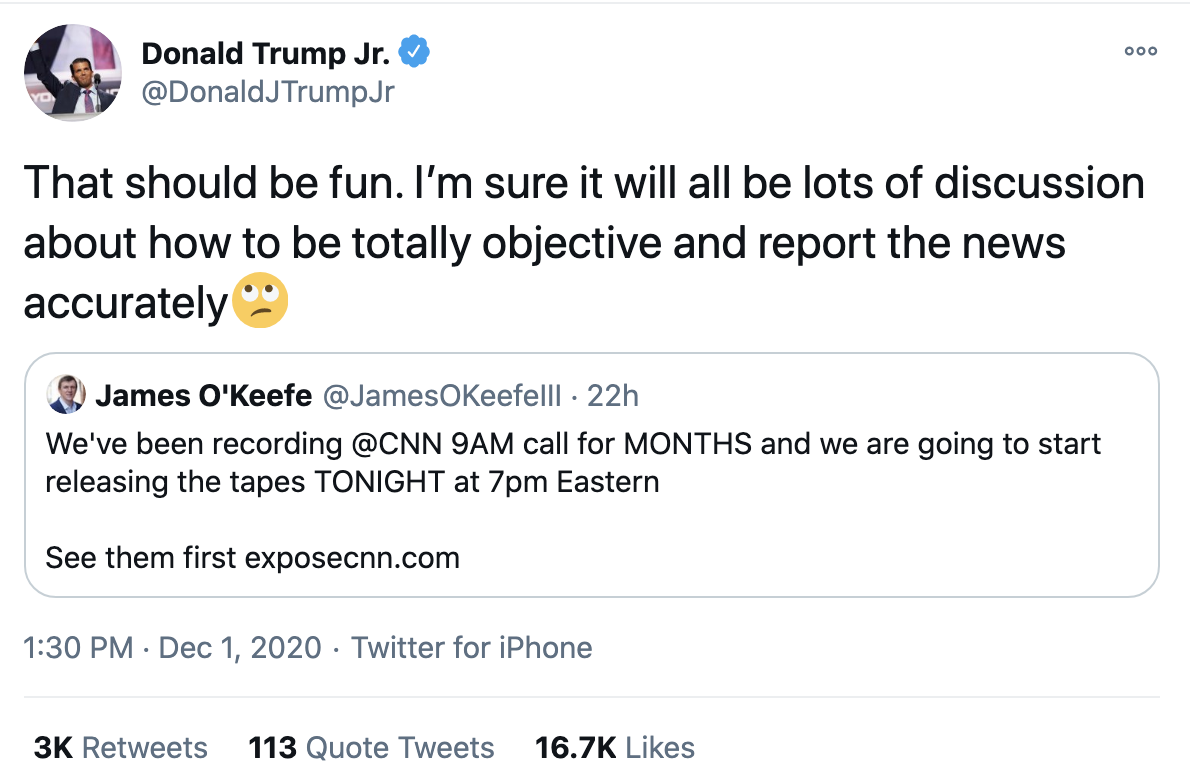 Screen-Shot-2020-12-02-at-8.36.12-AM Don Jr. Melts Down Like A Maniac After Day Of Horrible News Conspiracy Theory Fact-Checker Featured Politics Top Stories