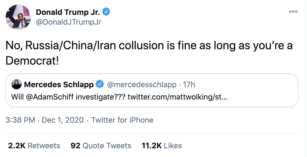 Screen-Shot-2020-12-02-at-8.37.10-AM Don Jr. Melts Down Like A Maniac After Day Of Horrible News Conspiracy Theory Fact-Checker Featured Politics Top Stories