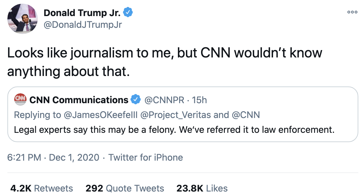 Screen-Shot-2020-12-02-at-8.38.34-AM Don Jr. Melts Down Like A Maniac After Day Of Horrible News Conspiracy Theory Fact-Checker Featured Politics Top Stories