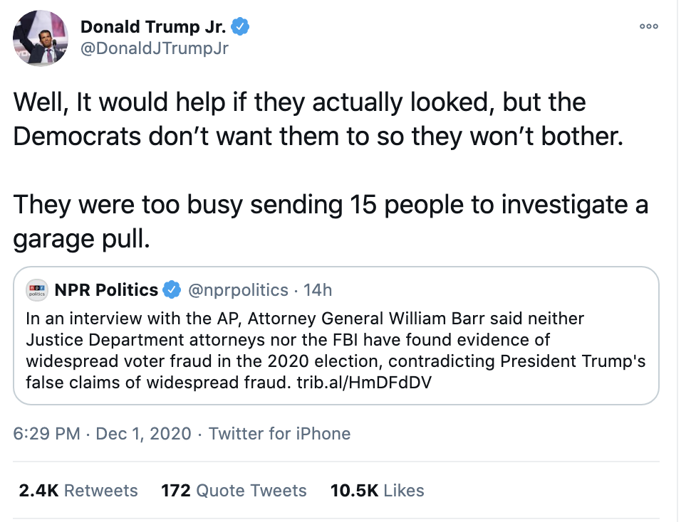 Screen-Shot-2020-12-02-at-8.42.11-AM Don Jr. Melts Down Like A Maniac After Day Of Horrible News Conspiracy Theory Fact-Checker Featured Politics Top Stories
