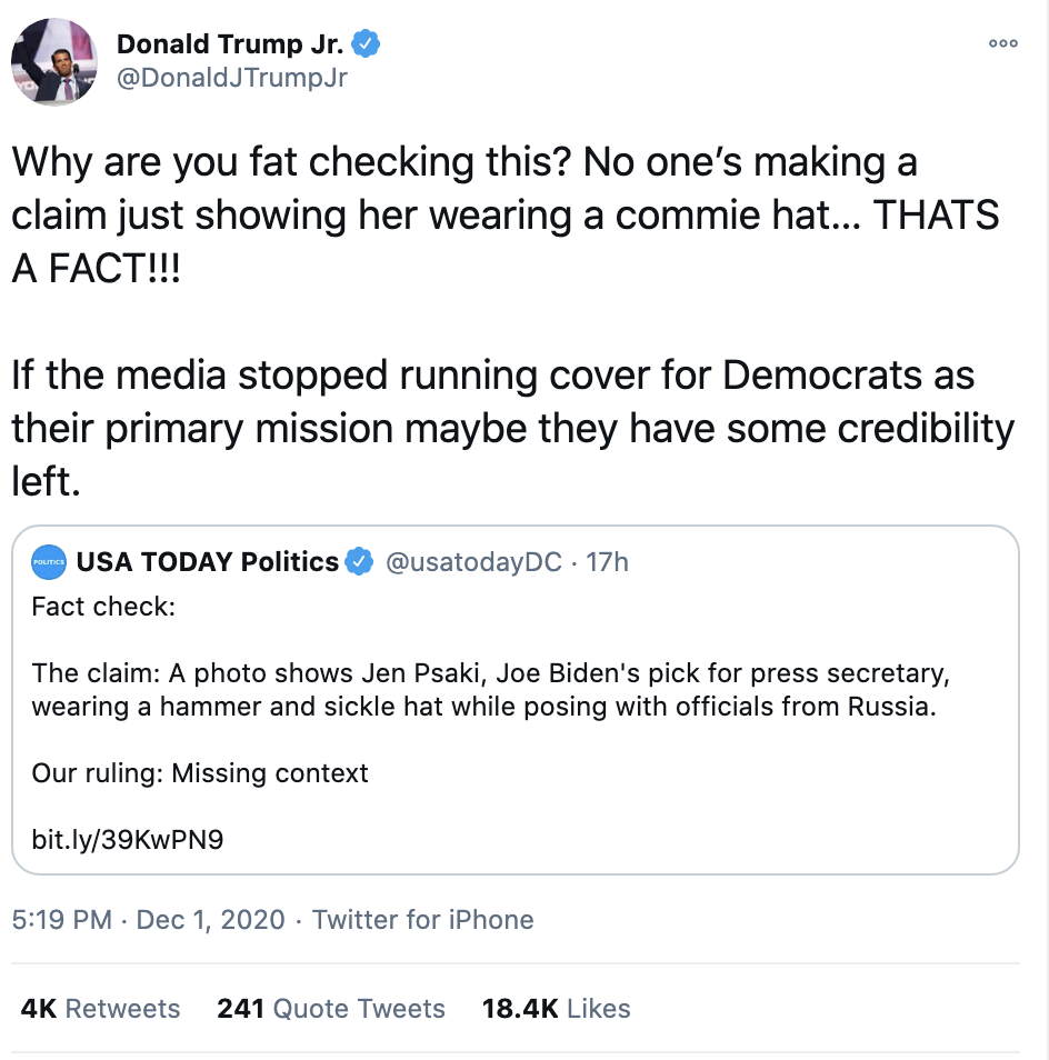 Screen-Shot-2020-12-02-at-8.44.38-AM Don Jr. Melts Down Like A Maniac After Day Of Horrible News Conspiracy Theory Fact-Checker Featured Politics Top Stories