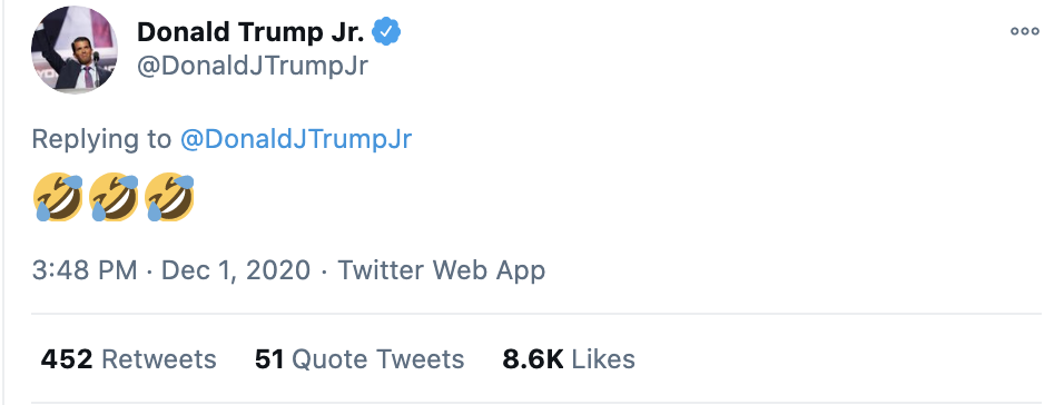 Screen-Shot-2020-12-02-at-8.50.28-AM Don Jr. Melts Down Like A Maniac After Day Of Horrible News Conspiracy Theory Fact-Checker Featured Politics Top Stories