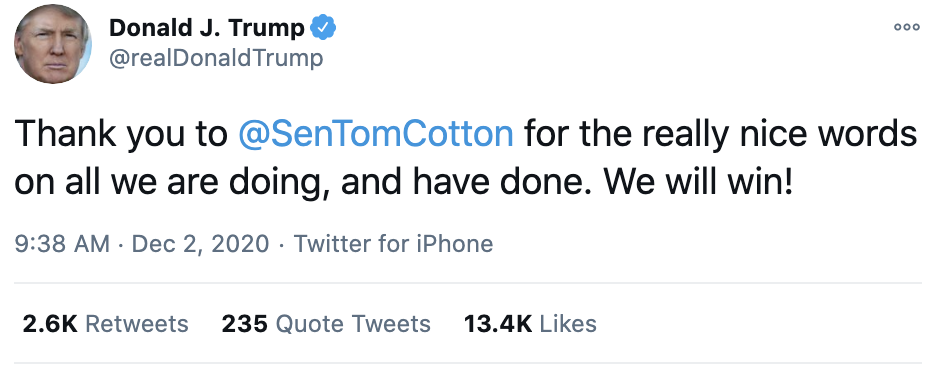 Screen-Shot-2020-12-02-at-9.44.04-AM Trump Freaks Out On Twitter Wednesday Morning After Avalanche Of Bad News Corruption Featured Mental Illness Politics Top Stories