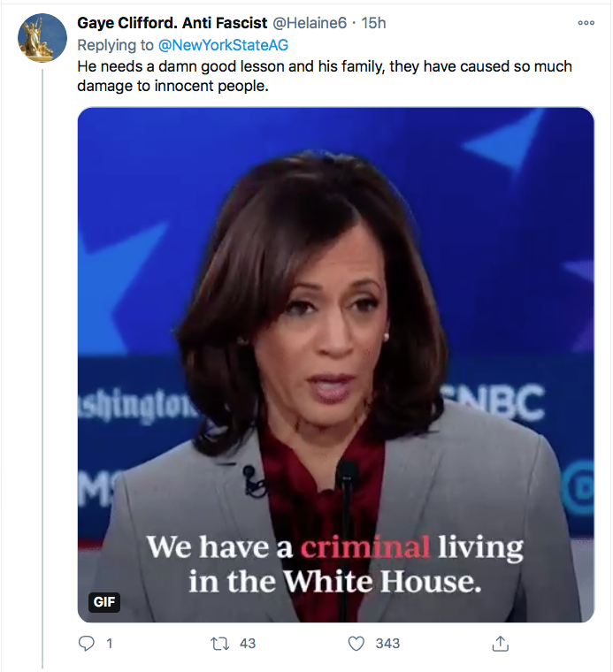Screen-Shot-2020-12-03-at-10.03.25-AM Letitia James Tweets Directly To Trump Like His Future Worst Enemy Conspiracy Theory Donald Trump Election 2020 Featured Politics Top Stories Twitter
