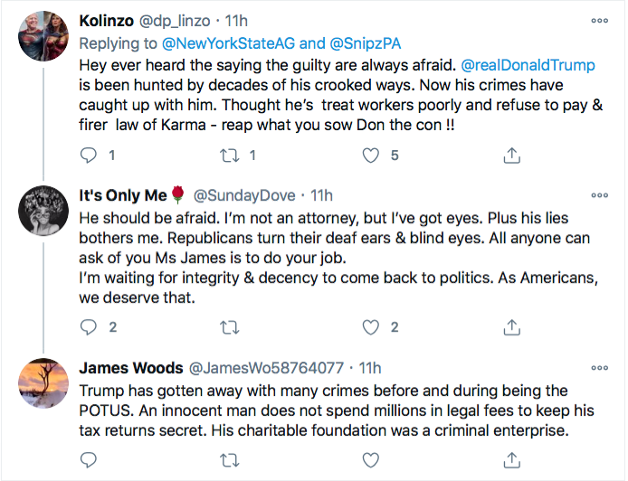 Screen-Shot-2020-12-03-at-10.03.57-AM Letitia James Tweets Directly To Trump Like His Future Worst Enemy Conspiracy Theory Donald Trump Election 2020 Featured Politics Top Stories Twitter