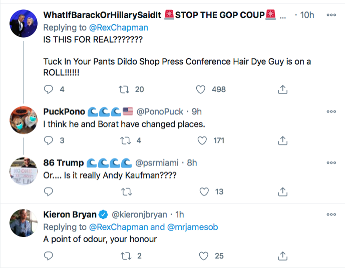 Screen-Shot-2020-12-03-at-9.27.36-AM Rudy Giuliani Appears To 'Fart' During Phony Fraud Hearing Conspiracy Theory Donald Trump Election 2020 Featured Politics Top Stories Twitter