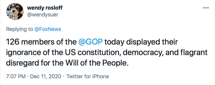 Screen-Shot-2020-12-11-at-7.35.30-PM GOP Responds To SCOTUS Defeat Like Treasonous Traitors Conspiracy Theory Donald Trump Election 2020 Featured Politics Top Stories Twitter