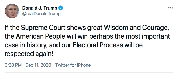 Screen-Shot-2020-12-11-at-7.59.03-PM GOP Responds To SCOTUS Defeat Like Treasonous Traitors Conspiracy Theory Donald Trump Election 2020 Featured Politics Top Stories Twitter