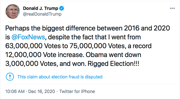 Screen-Shot-2020-12-16-at-10.29.24-AM Trump Announces Obama Related Election Fraud Rigging Scandal Conspiracy Theory Donald Trump Election 2020 Featured Politics Top Stories Twitter