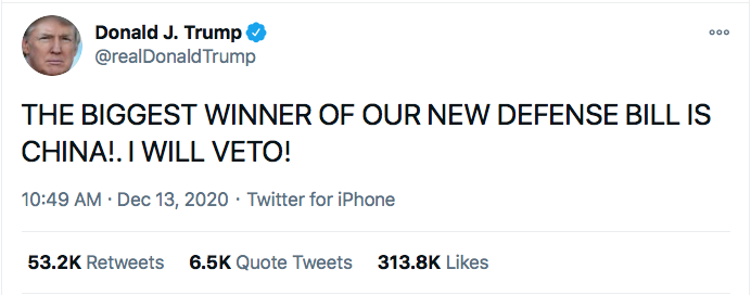 Screen-Shot-2020-12-22-at-10.18.53-AM Mitch McConnell Shores Up Votes To Override Trump Veto Of Defense Bill Donald Trump Featured Politics Top Stories Twitter