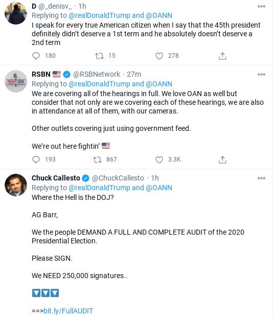 Screenshot-2020-12-01-at-3.43.37-PM Trump Has Afternoon Meltdown As His Fraud Conspiracies Collapse Corruption Donald Trump Election 2020 Politics Social Media Top Stories