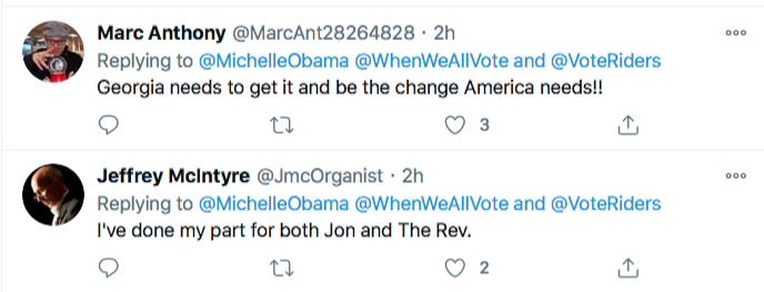 Screen-Shot-2021-01-02-at-8.46.27-PM Michelle Obama Makes Weekend Move To Flip Georgia Blue Election 2020 Featured Politics Top Stories Twitter