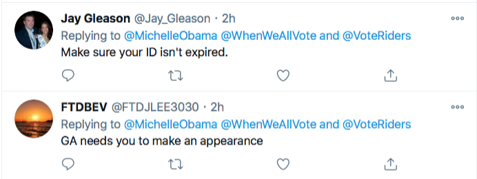 Screen-Shot-2021-01-02-at-8.46.50-PM Michelle Obama Makes Weekend Move To Flip Georgia Blue Election 2020 Featured Politics Top Stories Twitter