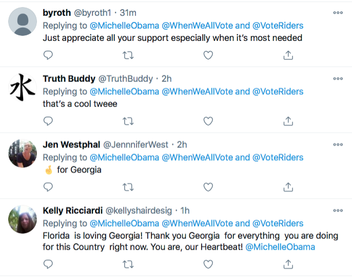 Screen-Shot-2021-01-02-at-8.47.08-PM Michelle Obama Makes Weekend Move To Flip Georgia Blue Election 2020 Featured Politics Top Stories Twitter