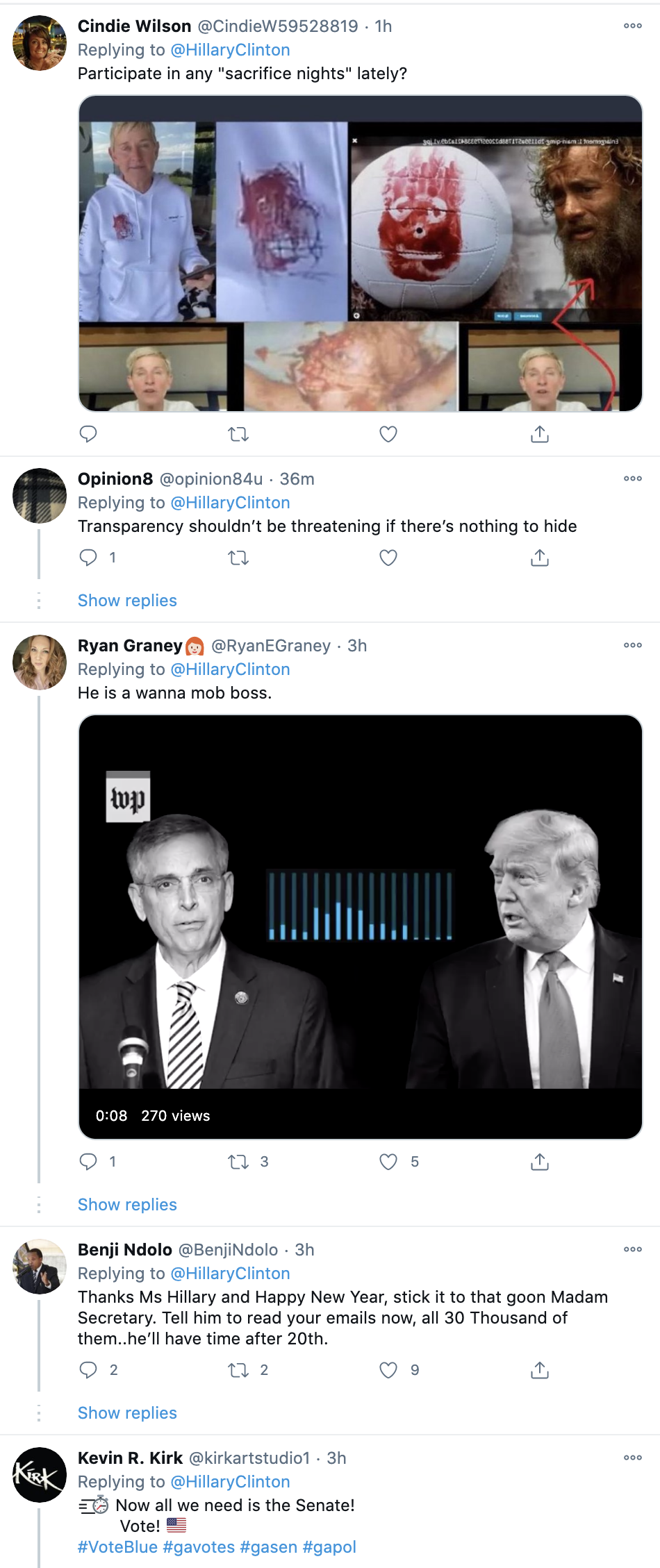 Screen-Shot-2021-01-04-at-12.32.51-PM Hillary Piles On Trump Over Leaked WaPost Audio Coronavirus Featured National Security Politics Top Stories