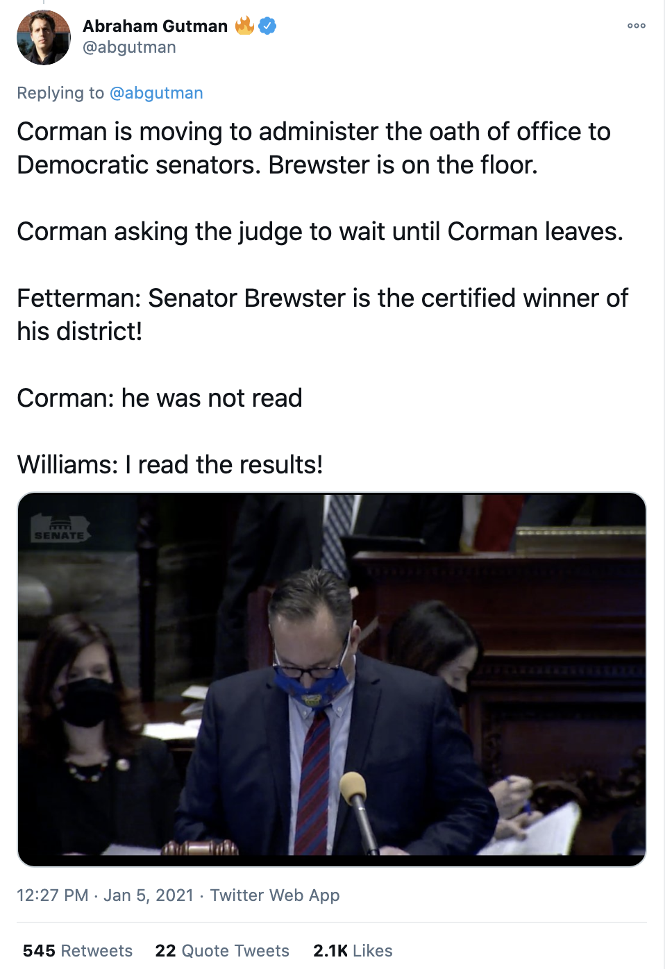 Screen-Shot-2021-01-05-at-2.54.15-PM Pennsylvania GOP Refuses To Seat Certified Democratic Winner Corruption Donald Trump Featured Politics Top Stories