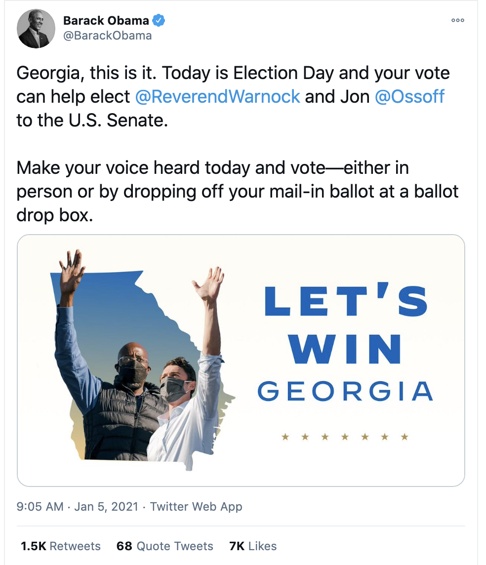 Screen-Shot-2021-01-05-at-9.17.40-AM Obama Issues Election Day Rallying-Cry To Flip Georgia Blue Featured National Security Politics Racism Top Stories