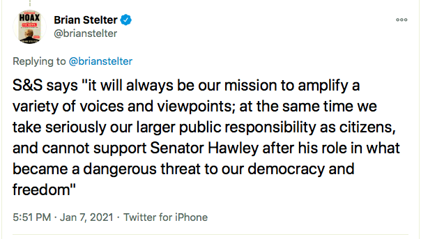 Screen-Shot-2021-01-07-at-6.43.23-PM Josh Hawley Loses Lucrative Contract After Inciting MAGA Rioters Conspiracy Theory Donald Trump Election 2020 Featured Politics Top Stories