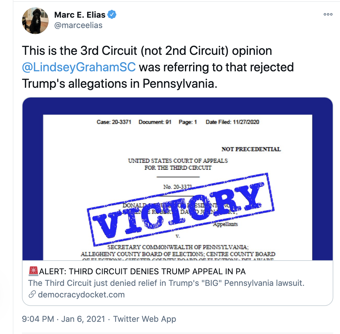 Screen-Shot-2021-01-07-at-8.04.05-AM Judge Denies Last-Ditch GOP Attempt To Overturn PA Election Crime Donald Trump Featured Politics Top Stories