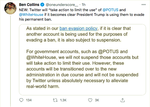 Screen-Shot-2021-01-08-at-9.03.50-PM Trump Rage-Tweets From Backup Account But Gets Banned Instantly Conspiracy Theory Donald Trump Featured Politics Top Stories Twitter