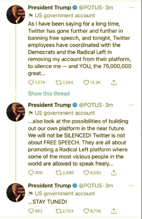 Screen-Shot-2021-01-08-at-9.04.38-PM Trump Rage-Tweets From Backup Account But Gets Banned Instantly Conspiracy Theory Donald Trump Featured Politics Top Stories Twitter