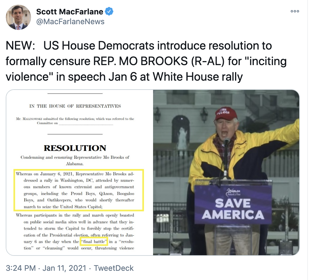 Screen-Shot-2021-01-11-at-3.52.55-PM Resolution To Formally Censure Mo Brooks Announced Conspiracy Theory Donald Trump Featured Politics Top Stories