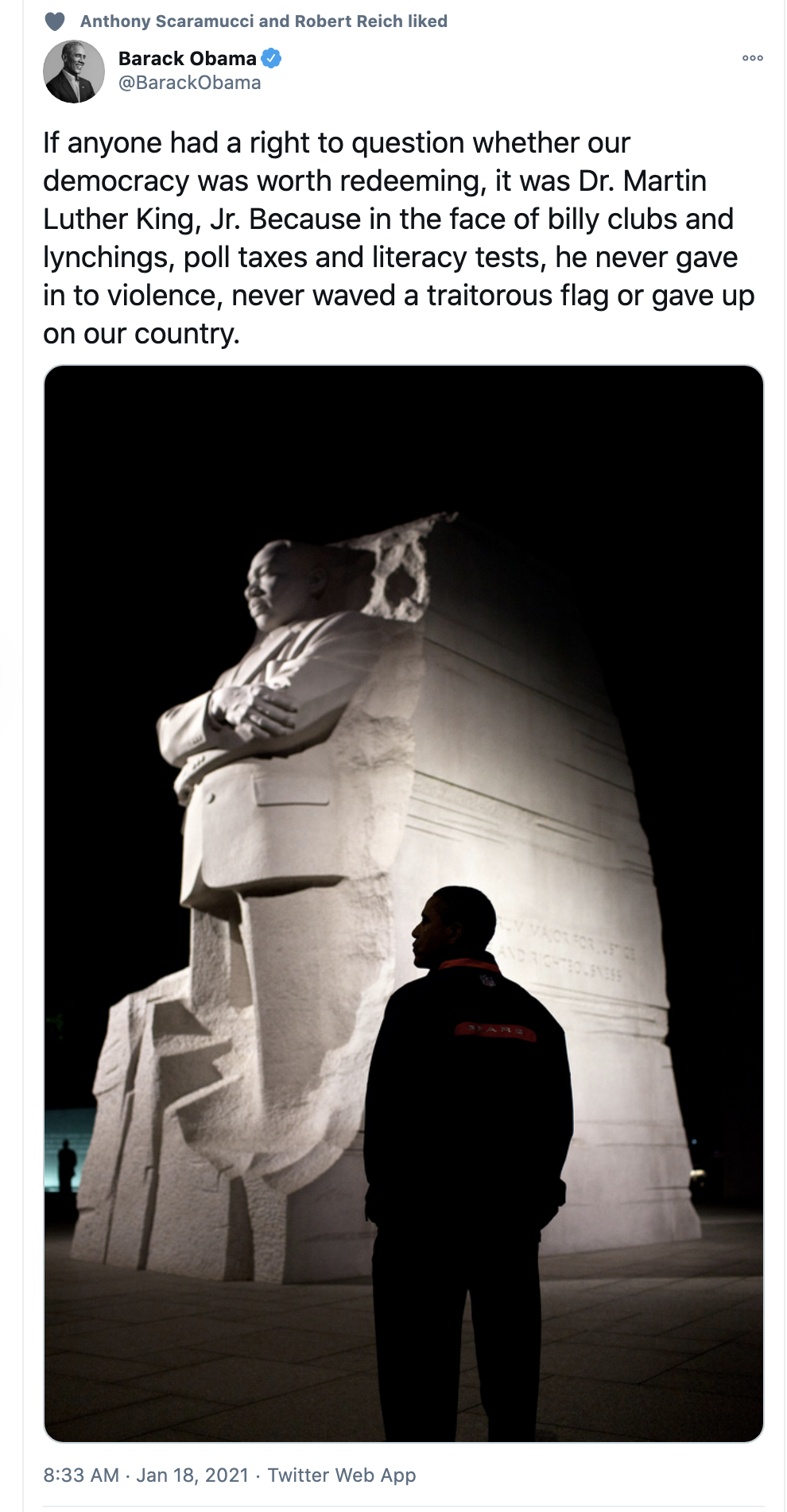 Screen-Shot-2021-01-18-at-9.18.40-AM Obama Unites Red & Blue America With MLK Day Message Of Hope Crime Featured National Security Politics Top Stories