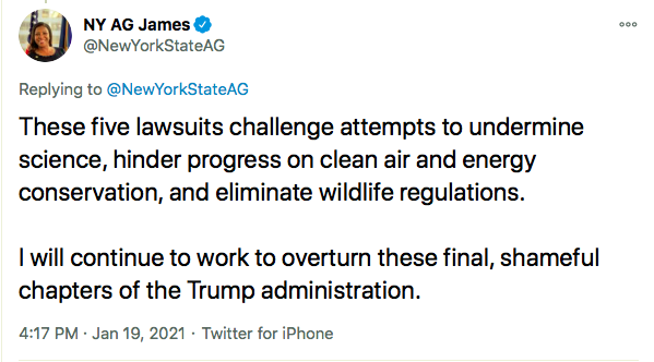 Screen-Shot-2021-01-19-at-7.05.53-PM Letitia James Sends Warning To Trump Over Last Minute Sabotage Donald Trump Environment Featured Politics Top Stories Twitter