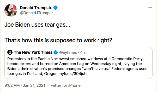 Screen-Shot-2021-01-21-at-11.27.14-AM Don Jr. Has Belligerent Emotional Collapse Over Biden's First Moves Featured Politics Top Stories Twitter