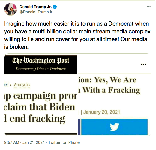 Screen-Shot-2021-01-21-at-11.27.50-AM Don Jr. Has Belligerent Emotional Collapse Over Biden's First Moves Featured Politics Top Stories Twitter