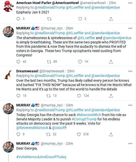 Screenshot-2021-01-05-at-10.21.52-AM Trump Has Election-Morning Mental Episode Over Georgia Runoff Corruption Donald Trump Election 2020 Politics Social Media Top Stories
